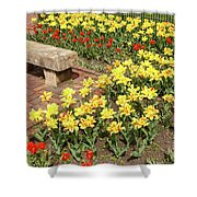 Relaxation In The Garden Shower Curtain