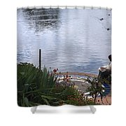 Relaxing By The Lake Shower Curtain