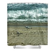 Relaxing By The Ocean Shower Curtain
