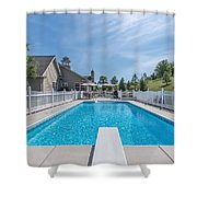 Relaxing By The Pool2 Shower Curtain