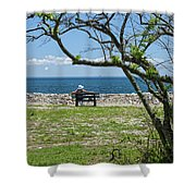 Relaxing By The Shore Shower Curtain