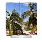 Relaxing On The Beach. Pinel Island Saint Martin Caribbean Shower Curtain