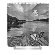 Relaxing On The Dock Shower Curtain