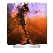 Release - Eagle Nebula 2 Shower Curtain by Jennifer Rondinelli Reilly - Fine Art Photography