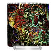 Release Valve Abstract Shower Curtain