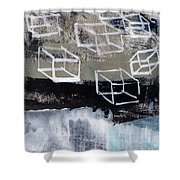 Released- Abstract Art Shower Curtain
