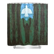 Releasing The Dove Shower Curtain