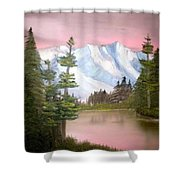 Relections In Pink Shower Curtain