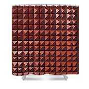 Relief C2 Red Metallic Shower Curtain