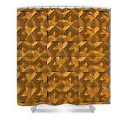 Relief M2 Orange Shower Curtain