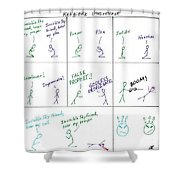 Religious Discourse Shower Curtain
