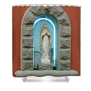 Religious Icon Mary Shower Curtain