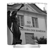 Religious Medicine Shower Curtain