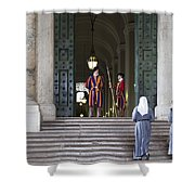 Religious Visit Shower Curtain