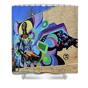 Reloaded Or Education Is A Powerful Weapon Mural -- 2 Shower Curtain