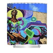 Reloaded Or Education Is A Powerful Weapon Mural Shower Curtain