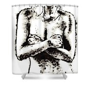 Reluctance Shower Curtain by Richard Young