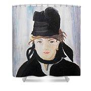 Remake Portrait Of Berthe Morisot Shower Curtain