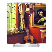 Rembrandt's Hurdy-gurdy Shower Curtain