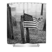Remember W/white Round Frame Shower Curtain