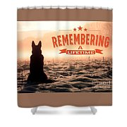 Remembering A Lifetime Shower Curtain by Kathy Tarochione