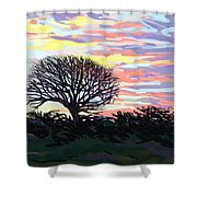 Remembering Autumn Shower Curtain