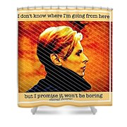 Remembering David Bowie Shower Curtain
