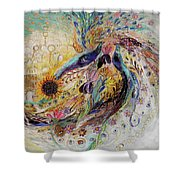 Remembering Safed Shower Curtain