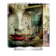 Remembering The Time At Italy Shower Curtain