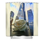 Remembering With A Rose Shower Curtain