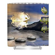 Reminders Of Peace Shower Curtain