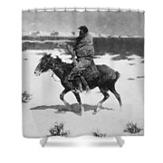 Remington: Luckless Hunter Shower Curtain