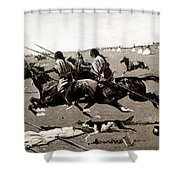 Remington: Native American Village Shower Curtain