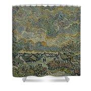Reminiscence Of Brabant Saint Remy De Provence March - April 1890 Vincent Van Gogh 1853  1890 Shower Curtain