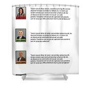 Remix - About Page Shower Curtain