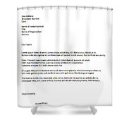 Remix - Letterhead Shower Curtain