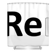Remix Logo Shower Curtain