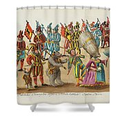 remnants of antiquities at various Orthen Shower Curtain
