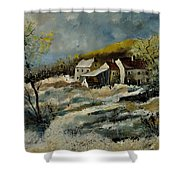 Remote Houses In The Ardennes  Shower Curtain