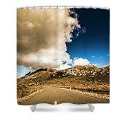 Remote Rural Roads Shower Curtain