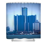 Gm Renaissance Center In Downtown Detroit, Michigan Shower Curtain