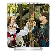 Renaissance Faire With Hen Shower Curtain