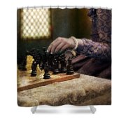 Renaissance Lady Playing Chess Shower Curtain