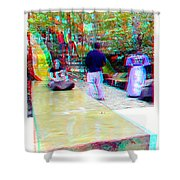 Renaissance Slide - Use Red-cyan 3d Glasses Shower Curtain