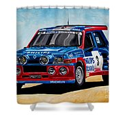 Renault 5 Maxiturbo Shower Curtain