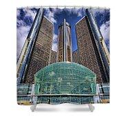 Rencen Detroit Gm Renaissance Center Shower Curtain