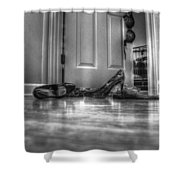 Rendezvous Do Not Disturb 05 Bw Shower Curtain