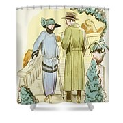 Rendezvous, Outfit And Ulster Overcoat  Shower Curtain