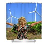 Renewable Energy Concept Shower Curtain