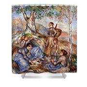 Renoir: Grape Pickers Shower Curtain